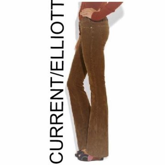 Current/Elliott Denim - CURRENT/ELLIOTT Brown Corduroy Flare Pants 26
